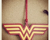 Wood Painted Wonder Woman Ornament