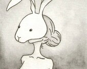 Rabbit - Original Artwork / Illustration - ACEO