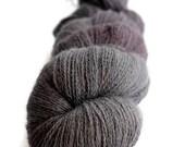 """BFL Knitting Wool Lace Yarn Hand Dyed -  """"Dark Days"""" - UK Seller"""