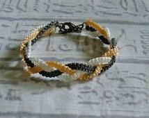 Macrame friendship bracelet. Macrame jewelry in fall colors.