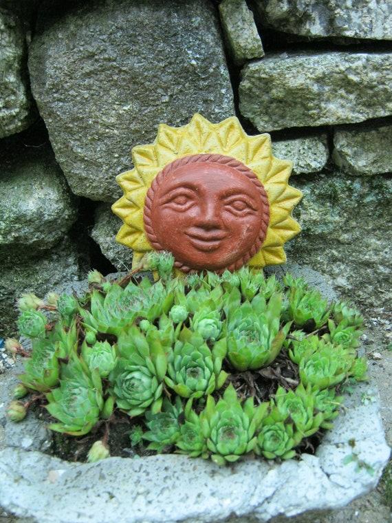 Sun Face, Wiccan Sun, Hanging Statue, Garden Sun, Garden Decor, Sun Plaque, Smiling Sun, Hanging Sun Face. Yard Art,