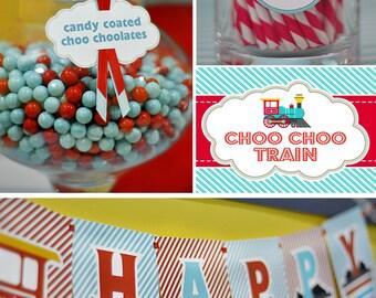 DIY printable birthday party package - choo choo train