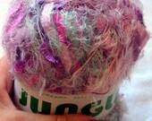 Jungle scarf fire yarn. Pink shades lace fuzzy euelash fancy yarn 2015 vogue trends. OOS