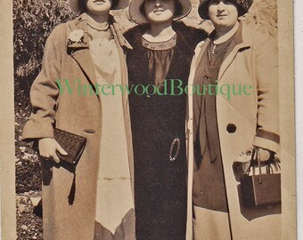 1925 at Cliff House Snapshot -  Ester, Sadye and Ida all dressed up.