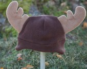 Children's Fleece Moose hat with earflaps