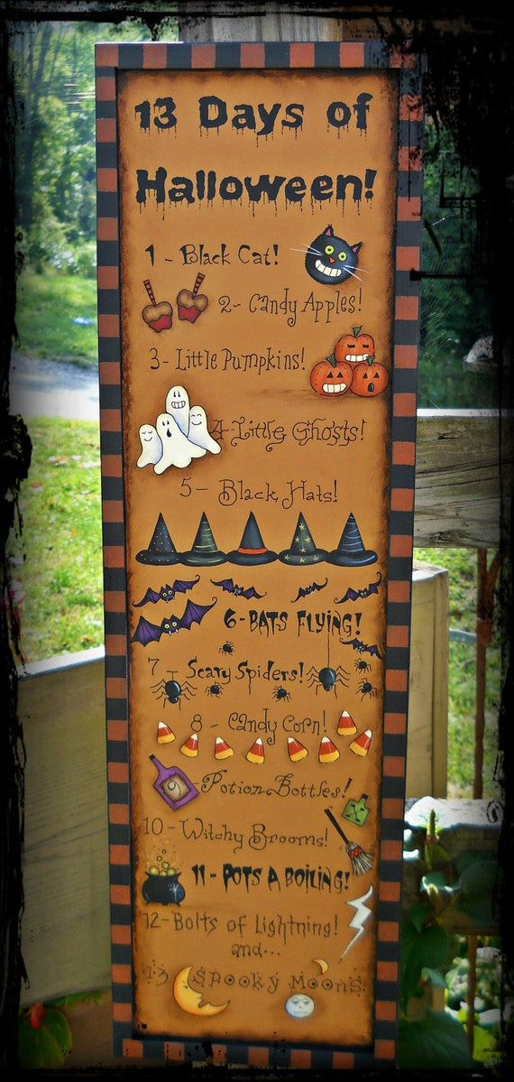 E PATTERN - 13 Days of Halloween - So Fun -NEW -Designed by Terrye French, Painted By Me, Sharon B - FAAP