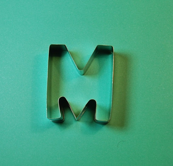 alphabet cookie cutter letter m by nettiesvintagebox on etsy With letter m cookie cutter