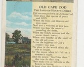 Antique Old Cape Cod Land of Heart's Desire Postcard