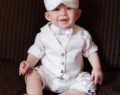 Baby Boy Blessing Christening Dedication Knicker Shorts Suit Set 6-9 mo.