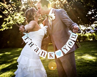 THANK YOU wedding banner garland CUSTOMIZE to your wedding colors
