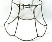 Lamp Shade Frame Scallop Oval Pendant Wire Hand Made NYC