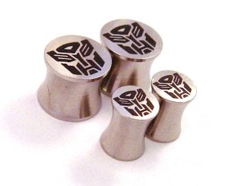 "Slaggin' Sweet 316L Surgical Steel Plugs - Double Flared - 2g 0g 00g 7/16"" (11 mm) 1/2"" (13mm) 9/16"" (14mm) 5/8"" (16mm) Metal Gauges"