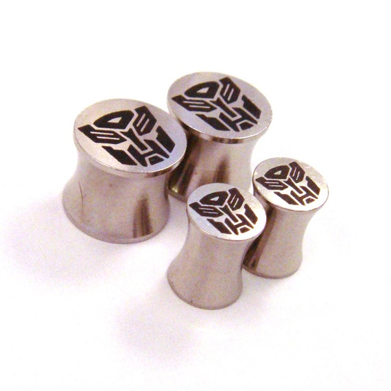 "Slaggin' Sweet 316L Surgical Steel Plugs - Double Flared - 2g 0g 00g 7/16"" (11 mm) 1/2"" (13mm) 9/16"" (14mm) 5/8"" (16mm) Metal Gauges"