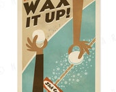 Wax it Up - 12 x 18 Retro Hawaii Surfing Print