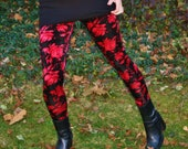 Ladies Limited Edition Foral Velvet Leggings - pick your size - LAST ONE