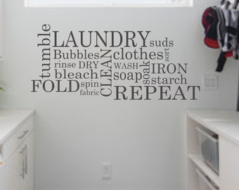 Attractive Laundry Wall Decal   Subway Laundry Room Decor Vinyl Wall Art   Laundry  Vinyl Lettering Part 22