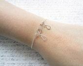 Silver Wire Bracelet, Joy Bracelet, Christmas Bracelet, Swedish Jewelry, Scandinavian Design, Made in Sweden