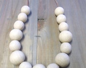 Eco Wood & Leather Teething Necklace