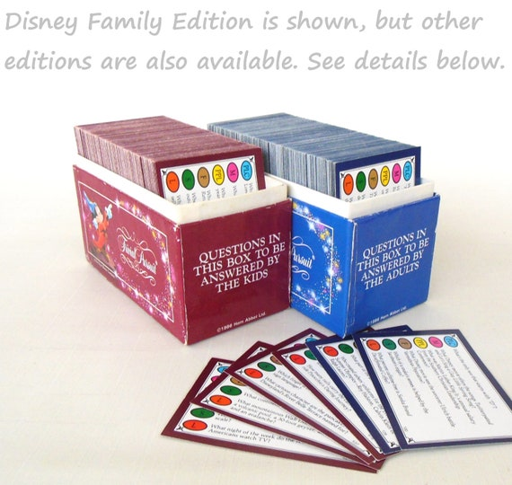 Trivial Pursuit Disney Family Edition Trivia Game Cards Vintage 1980s