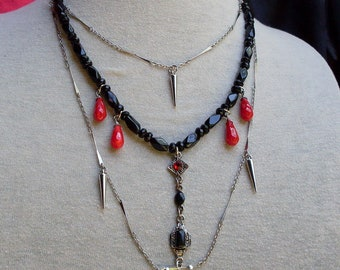 Victorian/ Gothic Necklace Featuring VAMPIRE TEARS