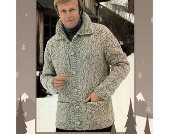 Knitting Pattern Jacket Chunky : Chunky cardigan Etsy