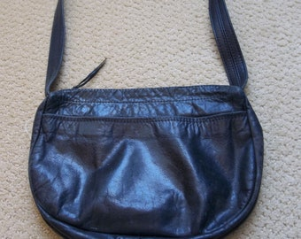 Liquidation SALE see coupons Vintage Black Leather Purse Handbag by Pat Halpen