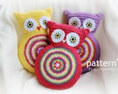 Crochet Pattern - Crochet Owl Cushion (Pattern No. 007) - INSTANT DIGITAL DOWNLOAD