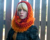 Crochet Hooded Cowl in Lioness