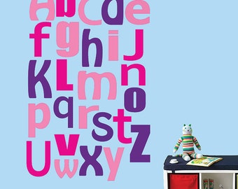 Alphabet Wall Decal Reusable Wall Decal - 328SWA JUMBO SIZE Extra Large