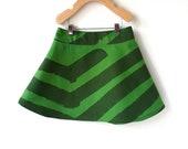 Girls Marimekko Skirt 4T - Green Stripes