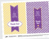Personalized Thank You Notes for a Rapunzel Tangled Birthday Party Printable Cards
