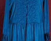 Vintage Petite Lily of France Turquoise Blue Lace Babydoll Negligee with Matching Robe Set