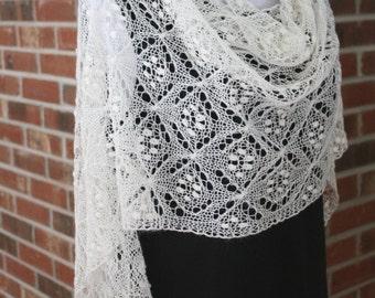 Quatrefoil Knitting Pattern : Popular items for knitting lace on Etsy