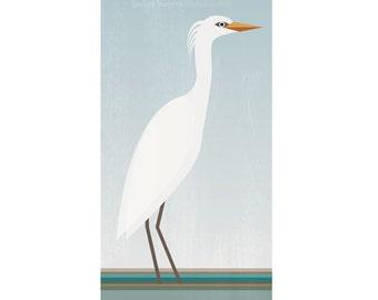 Heron - Garcita bueyera - Digital Image Download - printable
