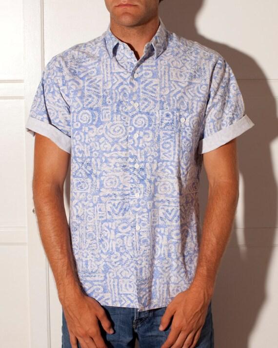 Rad Vintage Button Up Shirt - ISLAND FORCE - L