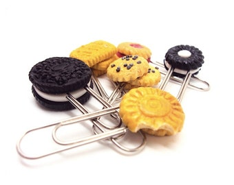 Polymer clay Miniature Cookie Paper Clips