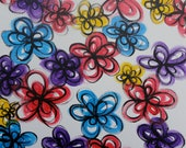 Spring Flowers - Abstract - 16 x 20 - You can CUSTOMIZE - ORIGINAL ARTWORK