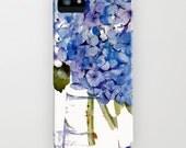 iPhone 5 case. Hydrangea Painting