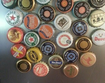 Set of four beer bottlecap magnets - Your choice - mix and match