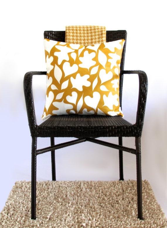 Forest Floor Pillow Cover in Golden Honey