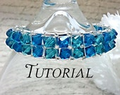 Tutorial PDF Right Angle Weave Swarovski Crystal Embellished Bracelet, Instant Download