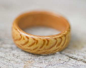Bentwood Ring - Quartersawn Sycamore featuring Cherry Liner - And We Plant A Tree :)