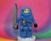Blue Ninja Cake Topper