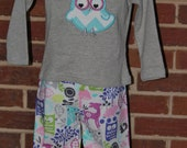 Girls Forest Life Owl Owls Outfit Ready to ship 18M