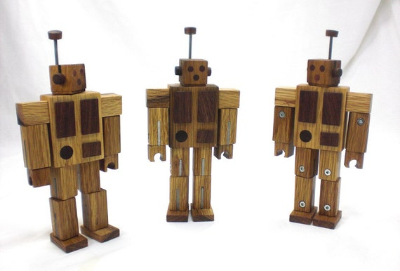 Wood Robot - Poseable, Rearrangeable, and All Kinds of Fun