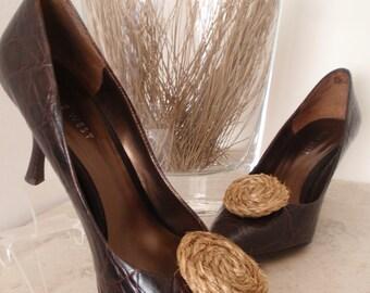 SALE: Manila Rosette Shoe Clips