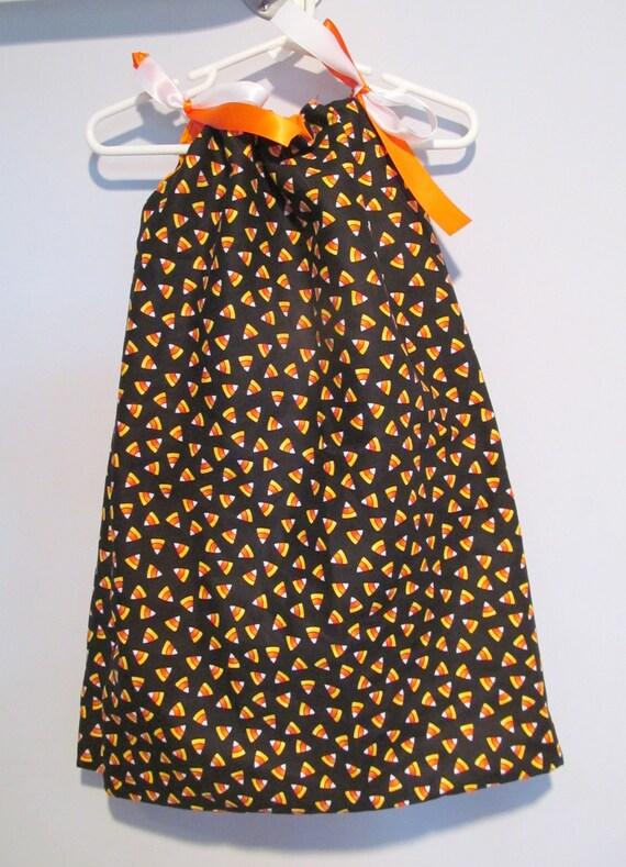 SALE Halloween Candy Corn Pillowcase Dress
