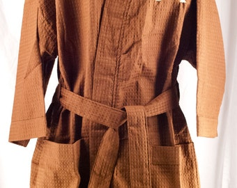 Personalized Robe, Waffle Weave Kimono Robe,  Brown Monogrammed Robe,  Bridesmaid Gift,  Spa Robe,   Monogrammed Robe  Embroidered Robe