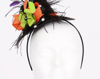 READY TO SHIP: Hocus Pocus Mini Witch Hat Headband - Halloween Costume Accessory - Fits toddler to adult - Cutie Patootie Designz