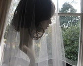 Reserved listing for Amanda- Drop veil - tulle bridal veil - Titania